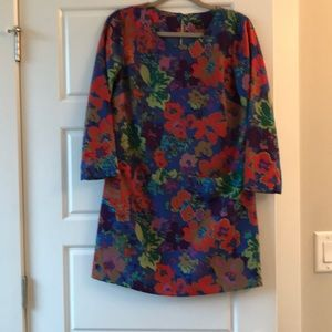 Jcrew Size 2 Floral Shift Dress